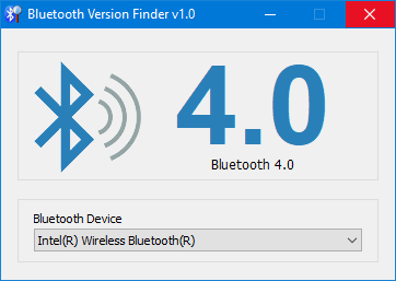 Windows 10 bluetooth version