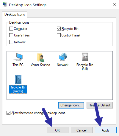 Windows 10 recycle bin - save changes-min