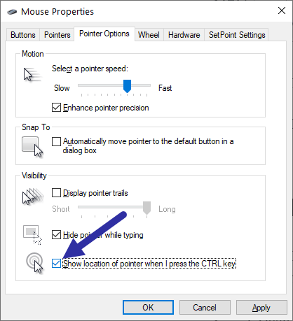 Mouse pointer ripple effect - select checkbox