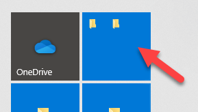 Folders grouped in start menu