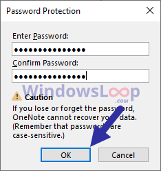 New-password-for-onenote-2016-section-020820