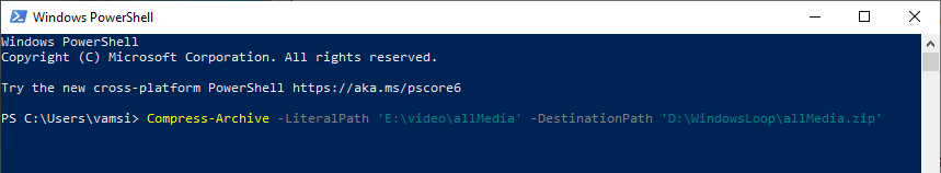 Powershell-command-to-compress-zip-multiple-files-folder-070820