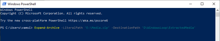 Powershell-command-to-unzip-and-extract-zip-file-070820