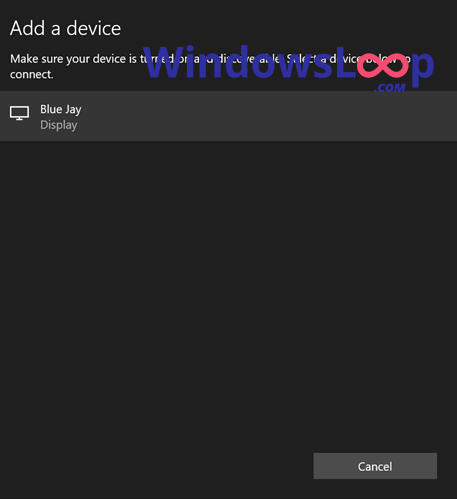 Select-wireless-display-to-connect-to-windows-130920