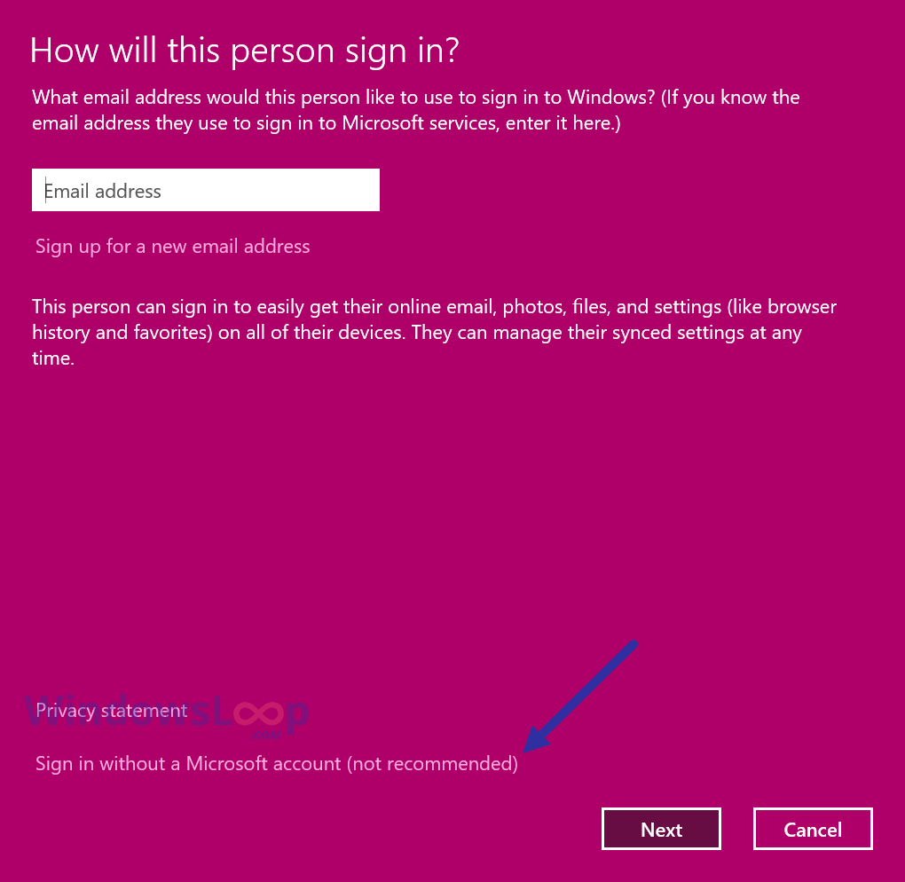 Signin-without-ms-account-011020