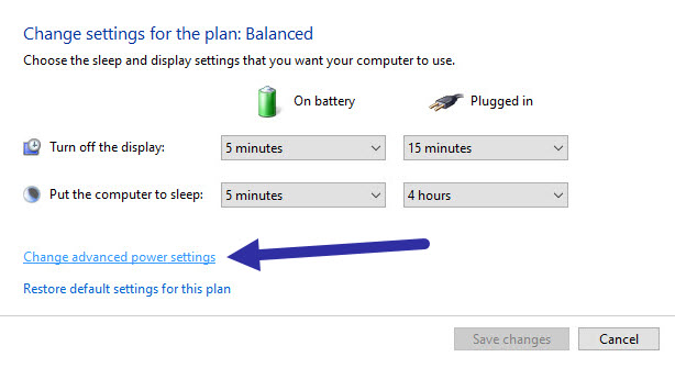 click change advanced power settings link in the control panel to disable USB selective suspending setting