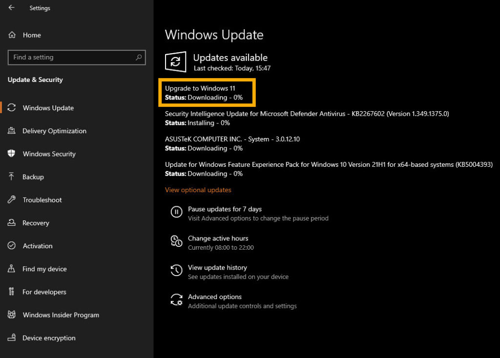 Windows 11 insider preview downloading